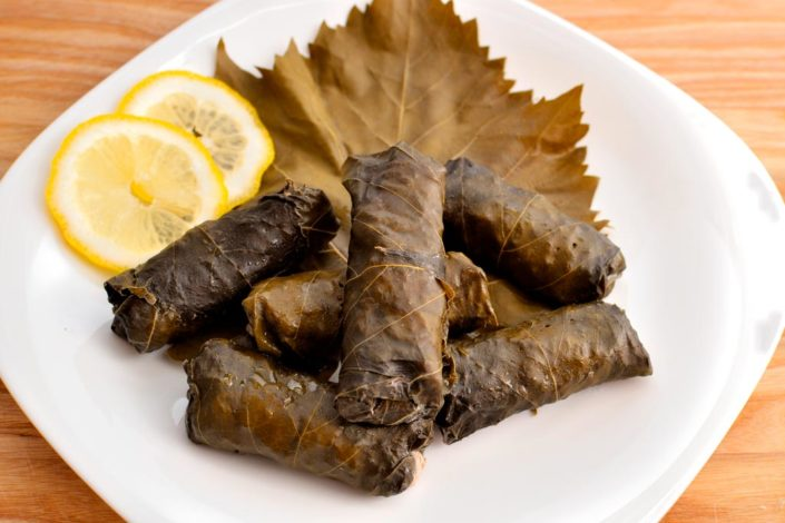 Dolma (Grape Leaves Stuffed with Rice)