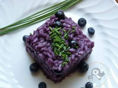 Risotto with Blueberry