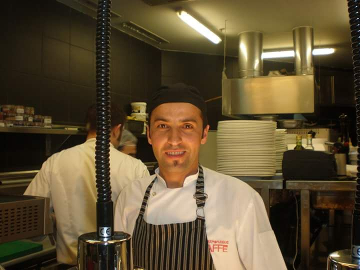 Chef Ahmet to Emporio Armani Caffè in Milan